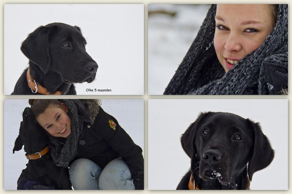 in de sneeuw met Lisa
